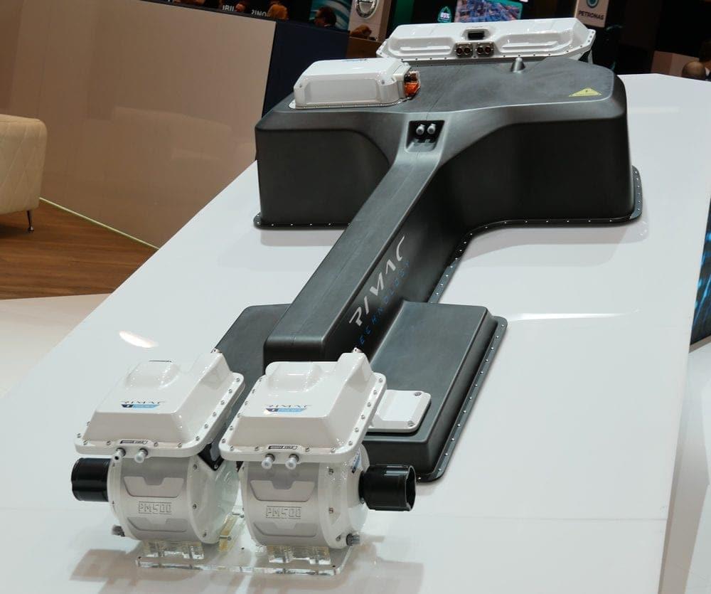 Powertrain und Batterie von Rimac
