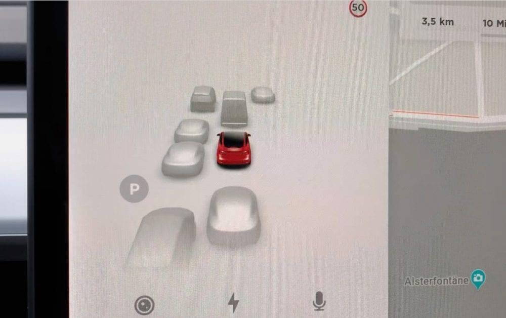 Tesla Model 3 Autopilot Erkennung Sensoren