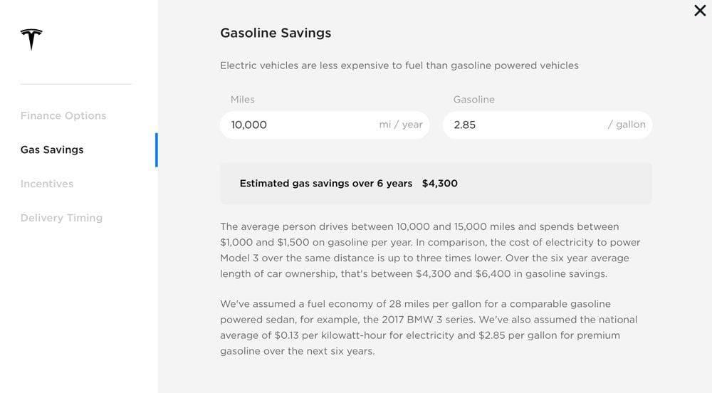 Tesla Model 3 Beispielrechnung