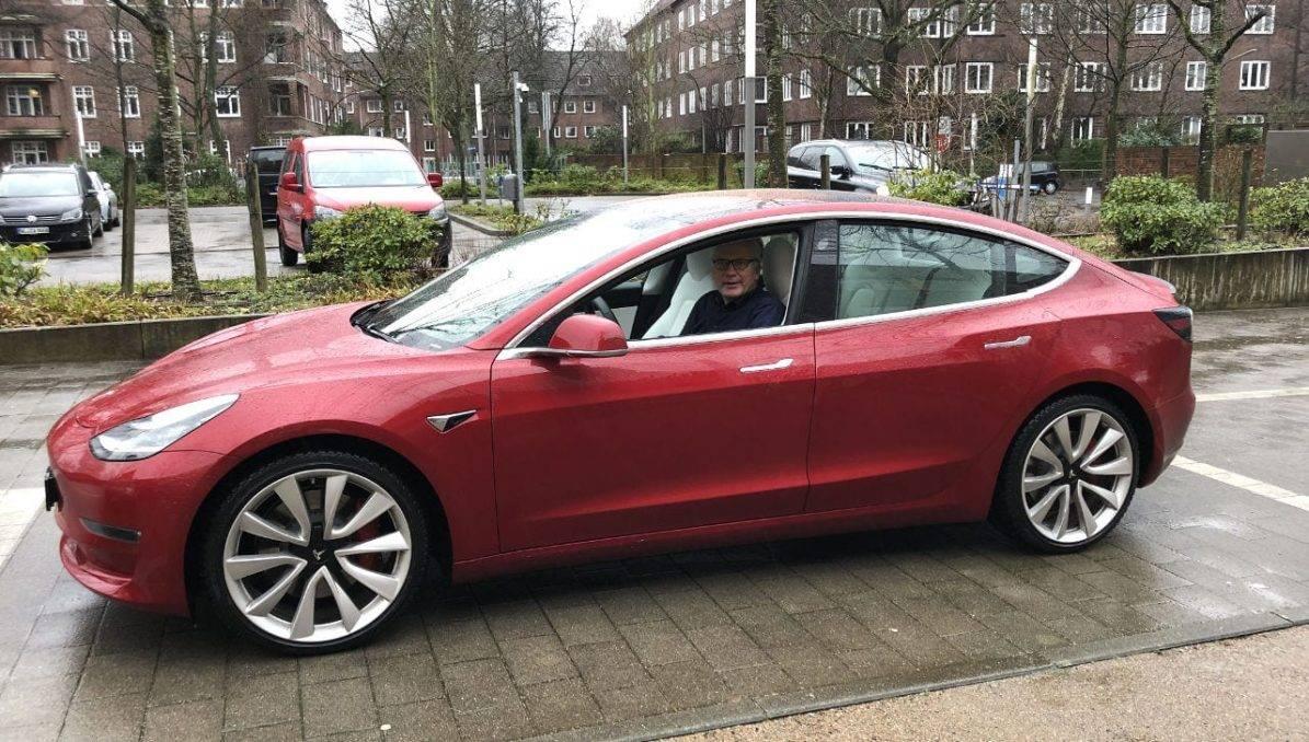Tesla model 3 testfahrt