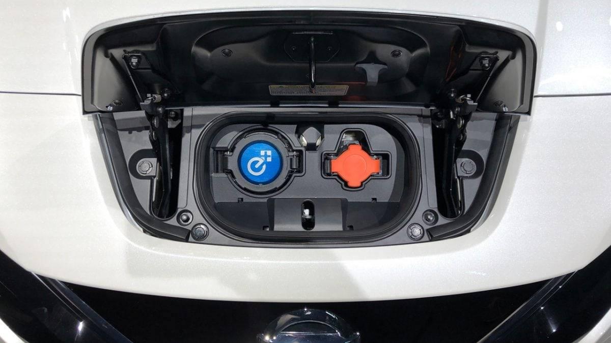 Nissan Leaf e+ ladeanschluss