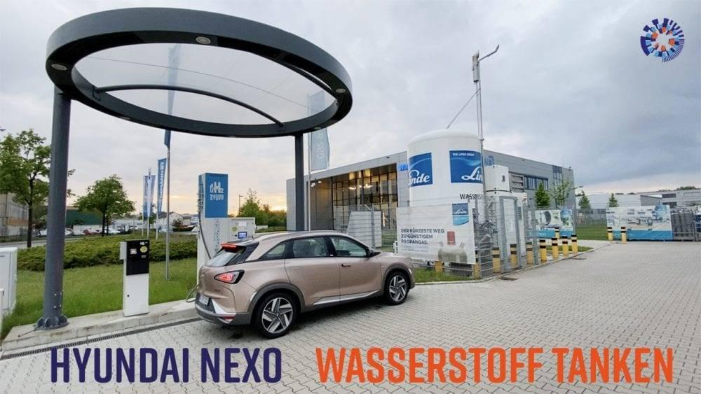 Wasserstoff tanken mit einem Hyundai Nexo