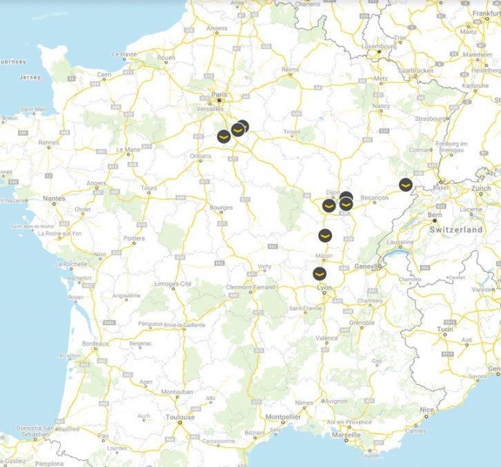 Fastned Stationen Frankreich